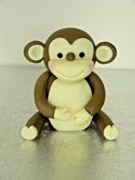 Monkey Birthday Edible Cake Topper